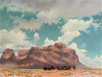 navajos on the way to a branding by r. brownell mcgrew