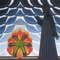 moses and the burning bush by roger brown