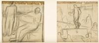 estudio de escenas industriales (pair) by aurelio arteta y errasti