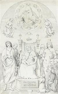 sacra conversazione (pala buffi) by august wilhelm julius ahlborn