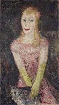 mädchen im rosa kleid by otto gleichmann