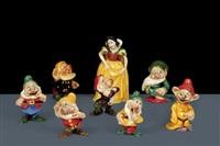 biancaneve e i sette nani (8 works) by walt disney