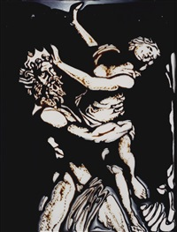 pluto and proserpina, after bernini (from pictures of chocolate) by vik muniz