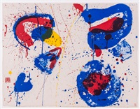 hurrah for the red, white and blue by sam francis