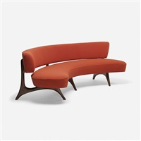 floating seat and back sofa by vladimir kagan