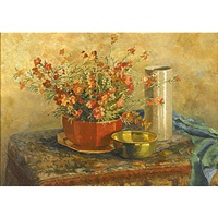 still life with flowers by corinne damon adams