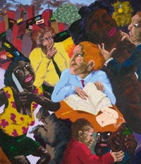 they're not in the book, professor... by robert h. colescott