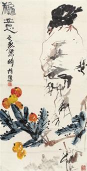 秋意 立轴 纸本 by liang qi