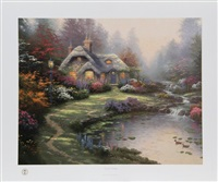 everett's cottage by thomas kinkade