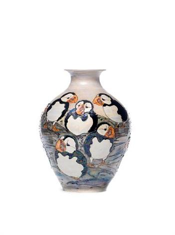 Puffins Large Vase By Lise B Moorcroft On Artnet