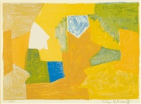composition jaune, orange et verte by serge poliakoff