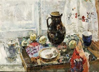 still life by the window by genadiy ivanovich dukhanov
