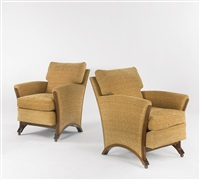 pair of armchairs by eugene printz
