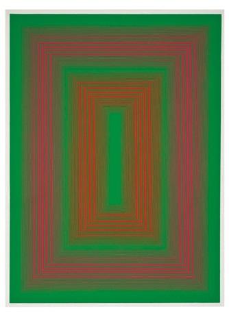 reflections ii green line by richard anuszkiewicz