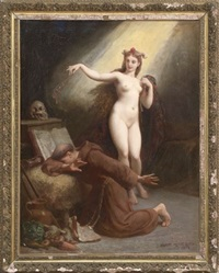 the temptation of saint anthony by henri pierre picou