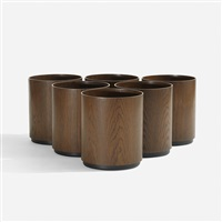 wastepaper baskets (set of 6) by jens risom