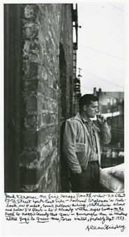 selected images of jack kerouac, william burroughs, neal cassady and peter orlovsky (9 works) by allen ginsberg