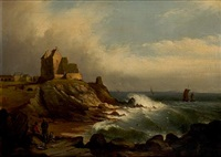 newark castle, fife by charles a blyth