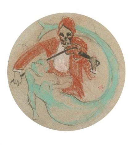 la mort et la sirène study for poster by rené magritte