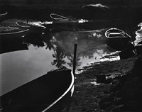 rowboats, mexico san bias by brett weston