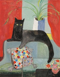 portrait of a black cat by dorothy lake gregory