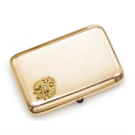 a russian imperial presentation cigarette case by gabriel niukkanen