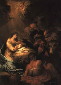the adoration of the shepherds by giovanni agostino ratti