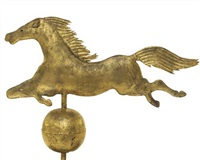 a jumping horse weathervane by a.l. jewell