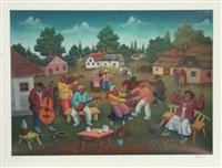 untitled (village dance) by ivan generalic