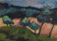 bäume und dünen in prerow (trees and dunes in prerow) by alexej jawlensky