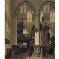 interior of the oude kerk, amsterdam by hendrick van streeck