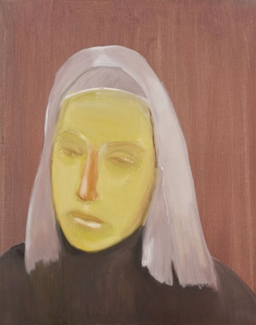 girl with orange nose sans titre by neal tait
