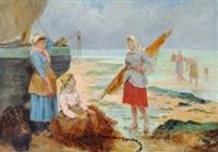 bavardage retour de pêche by pierre testu