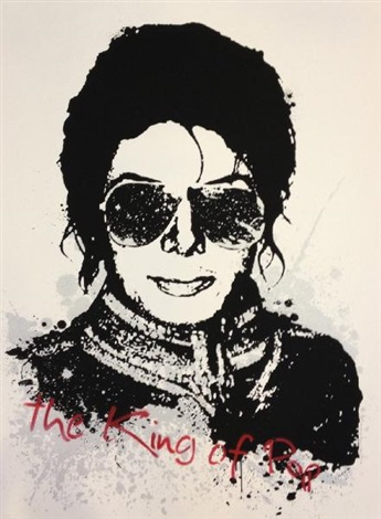 the king of pop by mr. brainwash