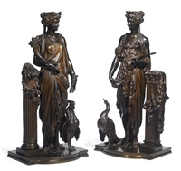 ceres (+ juno; 2 works) by auguste joseph peiffer