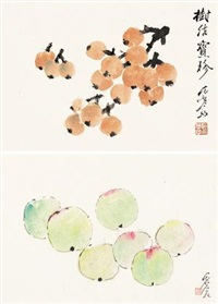 蔬果图 (2 works) by jiang hanting
