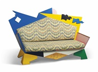 rare and early kandissi sofa by alessandro mendini