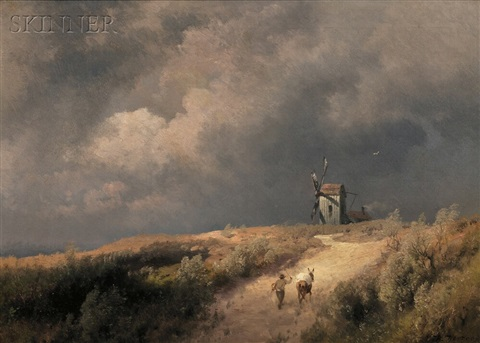 mill on the hill by hermann herzog
