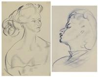ritratti femminili (2 works) by barbaro achille