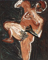 nude with legs apart by davida allen