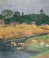 les lavandières malgaches by paul-léon bleger