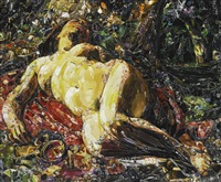 la bacchante, after gustave courbet (from pictures of magazines 2) by vik muniz