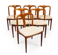 set of six juliane chaiirs by uldum mobelfabrik