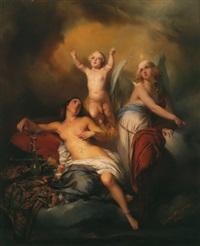 allegorie der christlichen seele zwischen tugend und laster by gustave (egidius karel g.) wappers