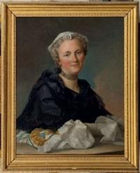 portrait de jeune femme à la bourse by pierre allais