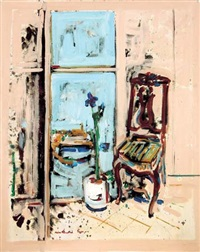 interior with a chair by hayim rosenthal