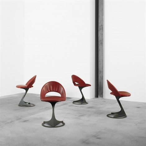 chairs from the tabourettli theatre set of 4 by santiago calatrava