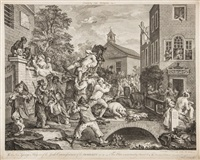 the election (6 works) by william hogarth