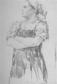 peasant woman by vladimir pavlovich kormanayevsky