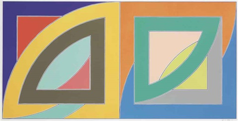 port aux basques from newfoundland series by frank stella
